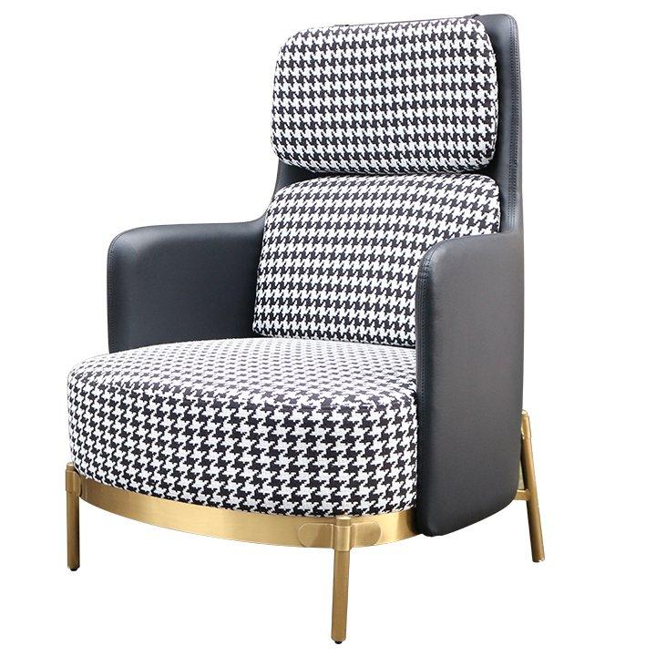 Кресло Pied de poule Gray high Armchair  - фото 1