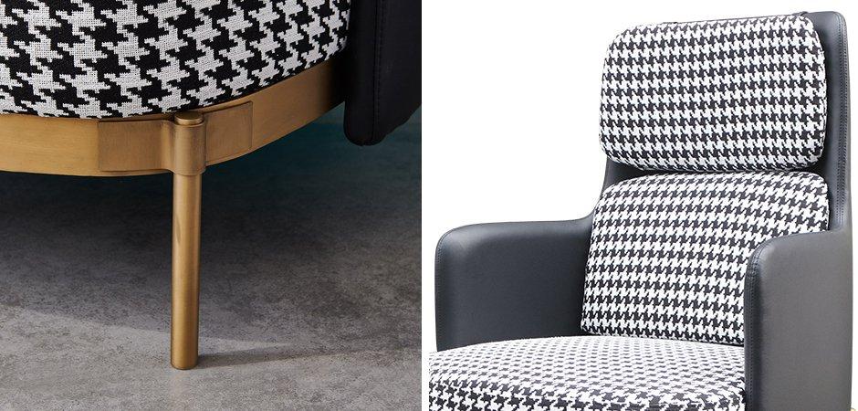 Кресло Pied de poule Gray high Armchair  - фото 2