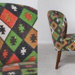 Кресло с зеленым орнаментом KELIM Pattern  - фото 2