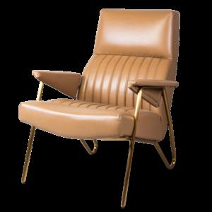 Кресло Solonar light brown leather
