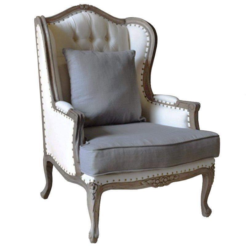 Кресло Villa Grandfather linen  - фото 1
