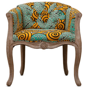 Кресло Yellow and Turquoise Ornament Chair