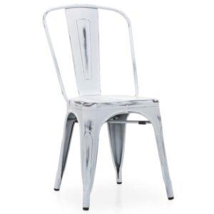 Кухонный стул Tolix Chair Vintage White  designed by Xavier Pauchard  in 1934