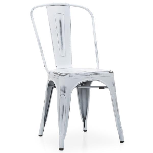 Кухонный стул Tolix Chair Vintage White  designed by Xavier Pauchard  in 1934 - фото 1