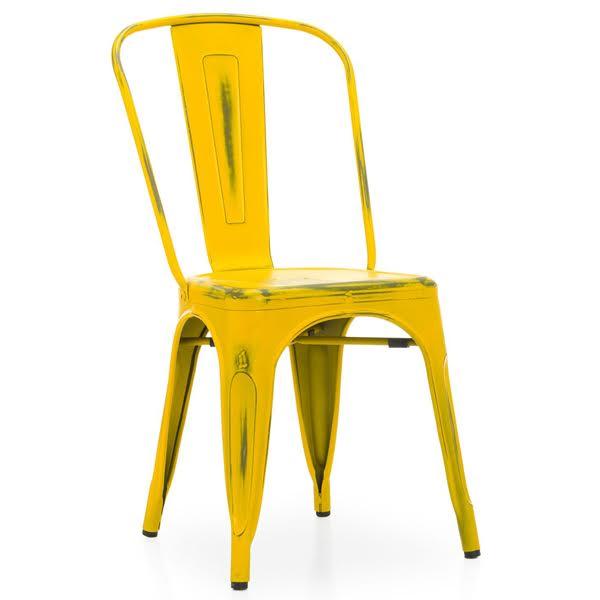 Кухонный стул Tolix Chair Vintage Yellow  designed by Xavier Pauchard  in 1934 - фото 1