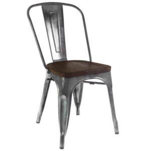 Кухонный стул Tolix Chair Wood Zinc  designed by Xavier Pauchard  in 1934