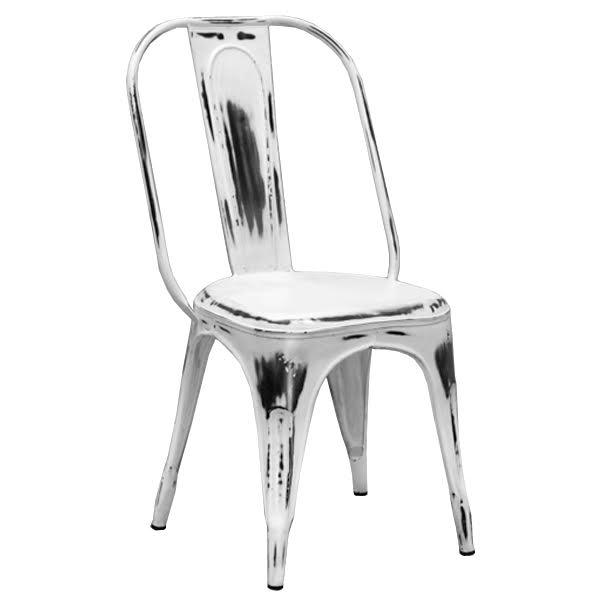 Кухонный стул Tolix Marais Chair Vintage White  designed by Xavier Pauchard  in 1934 - фото 1