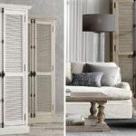 RH Shutter Double-Door Cabinet Шкаф с реечными дверями светлый дуб   - фото 2