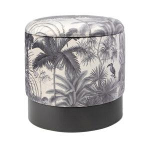 Пуф PUF Jungle Print plants&toucan small