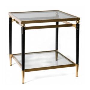 Приставной столик Black & Gold Table two-tier