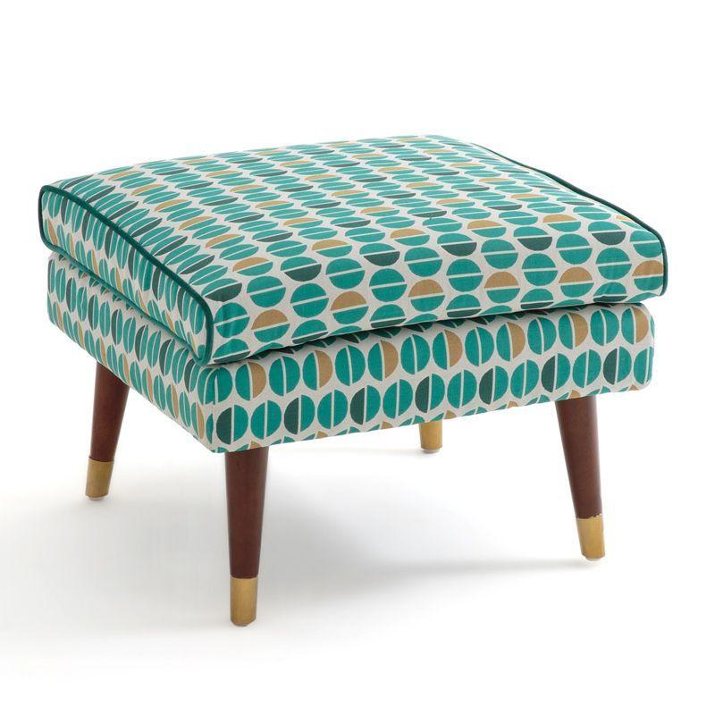 Пуф Classic Furniture синий белый желтый  - фото 1