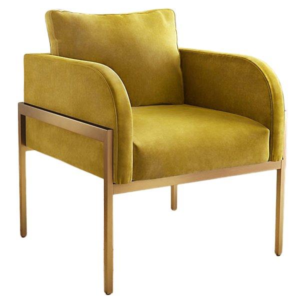 Кресло Velvet Ardmore Chair yellow   - фото 1