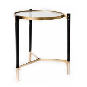 Приставной столик Black & Gold Table round