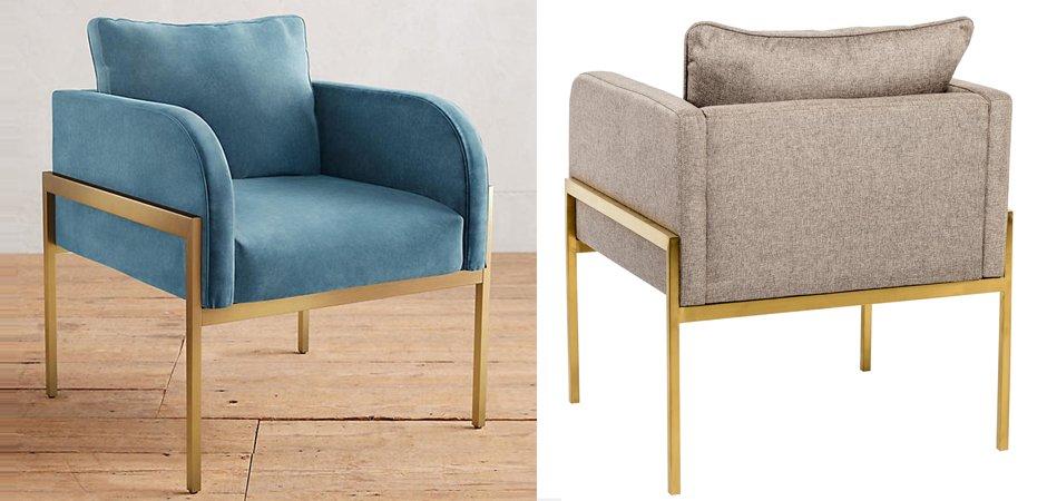 Кресло Velvet Ardmore Chair yellow   - фото 2