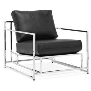 Кресло Black Calfskin Armchair  designed by Stephen Kenn and Simon Miller