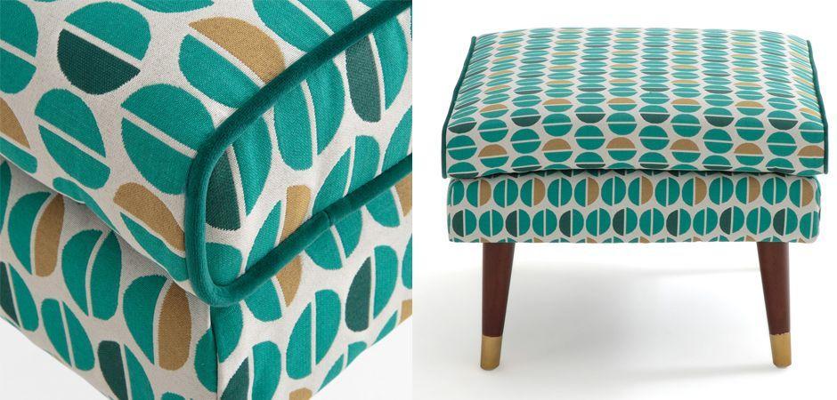 Пуф Classic Furniture синий белый желтый  - фото 2