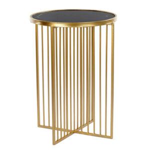 Приставной стол Side Table Marble crossed чёрный мрамор