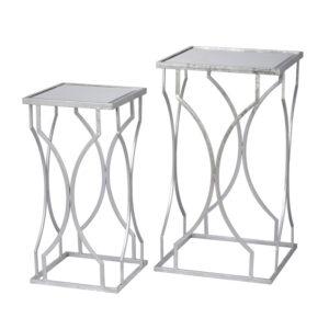 Комплект приставных столов Mirror Surface Table silver