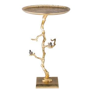 Приставной столик Tree Branch & Bird Gold