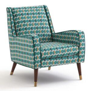 Кресло Contrasting Color синий желтый белый