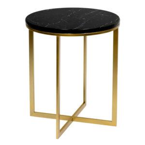 Приставной стол Round Table Marble black
