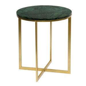 Приставной стол Round Table Marble green