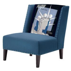 FUN Armchair Ctatue of Liberty Blue Дизайнерское кресло с цветным принтом
