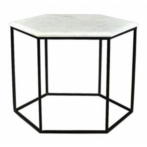 Кофейный столик Hexagon White Marble