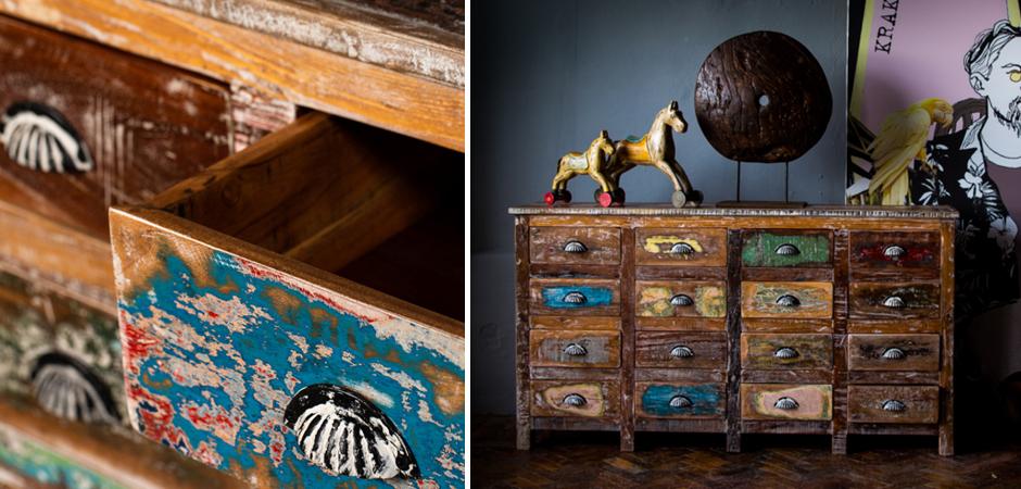 Комод Antique Wood 16 boxes  - фото 2