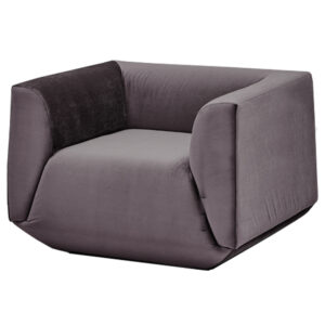 Armchair Cube Gray Lilac Большое Кресло Куб