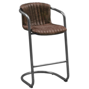 Барный стул Desmond bar stool LEATHER Brown