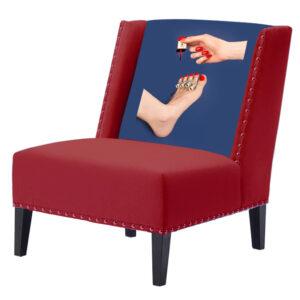 """FUN Armchair """"Pedicure"""" Red Дизайнерское кресло с цветным принтом"""