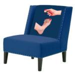 """FUN Armchair """"Pedicure"""" Blue Дизайнерское кресло с цветным принтом  - фото 1"""