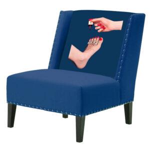 """FUN Armchair """"Pedicure"""" Blue Дизайнерское кресло с цветным принтом"""