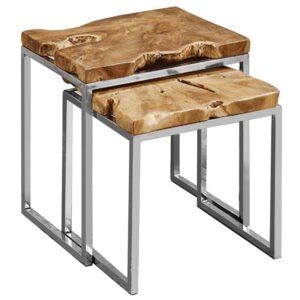 Набор из 2-х приставных столов Wavy Acacia