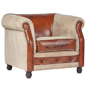 Винтажное Кожаное Кресло Лофт Q124