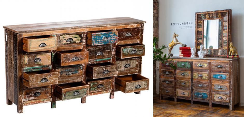 Комод Antique Wood 16 boxes  - фото 3