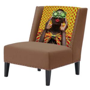 FUN Armchair Disco Beige Дизайнерское кресло с цветным принтом