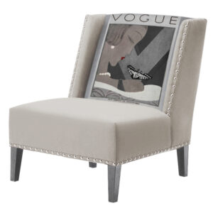 FUN Armchair  Vogui II Beige Дизайнерское кресло с цветным принтом