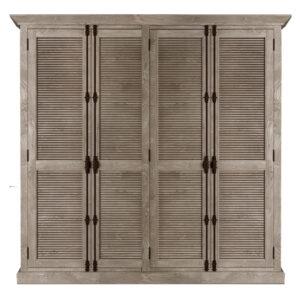 Restoration Hardware Shutter Four-Door Cabinet Шкаф с реечными дверями дуб