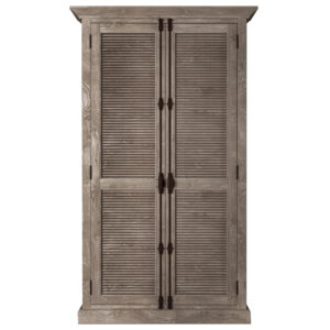 RH Shutter Double-Door Cabinet Шкаф с реечными дверями дуб