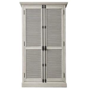 RH Shutter Double-Door Cabinet Шкаф с реечными дверями светлый дуб