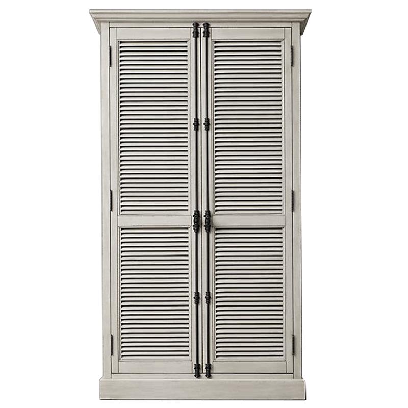 RH Shutter Double-Door Cabinet Шкаф с реечными дверями светлый дуб   - фото 1