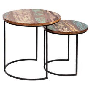Набор приставных столиков Antique Wood Side Table