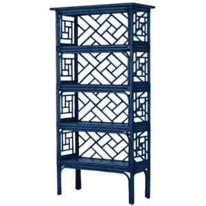 Стеллаж Синий Bamboo Chippendale Etagere Blue