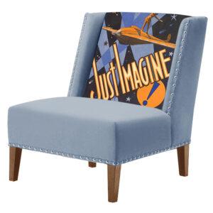 FUN Armchair Just Imagine Blue Дизайнерское кресло с цветным принтом