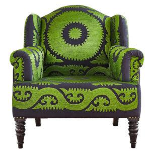 Кресло Mandala Зеленый Орнамент
