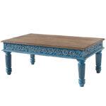 Кофейный стол из массива манго Голубой Blue Mango  - фото 1