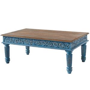 Кофейный стол из массива манго Голубой Blue Mango