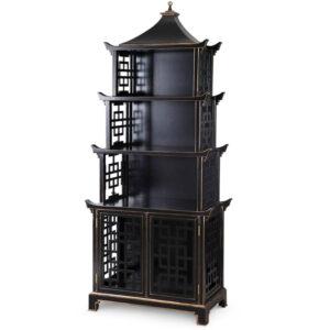 Стеллаж Черная Пагода Bungalow 5 Pagoda Black Wood